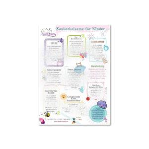 "Poster A4 ""Zauberbalsame für Kinder"" - ViVere Aromapflege - AromaMama"